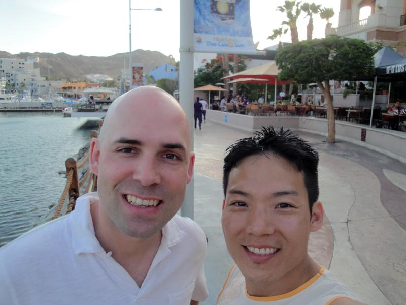 Helicopter crash victim Richard Newman and his husband, Daniel Jung, in 2013.