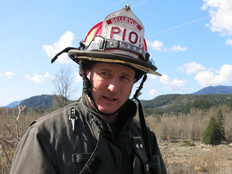 Lieutenant Richard Burke of the Bellevue Fire Department has been out searching in the mudslide debris near Oso, Wash.