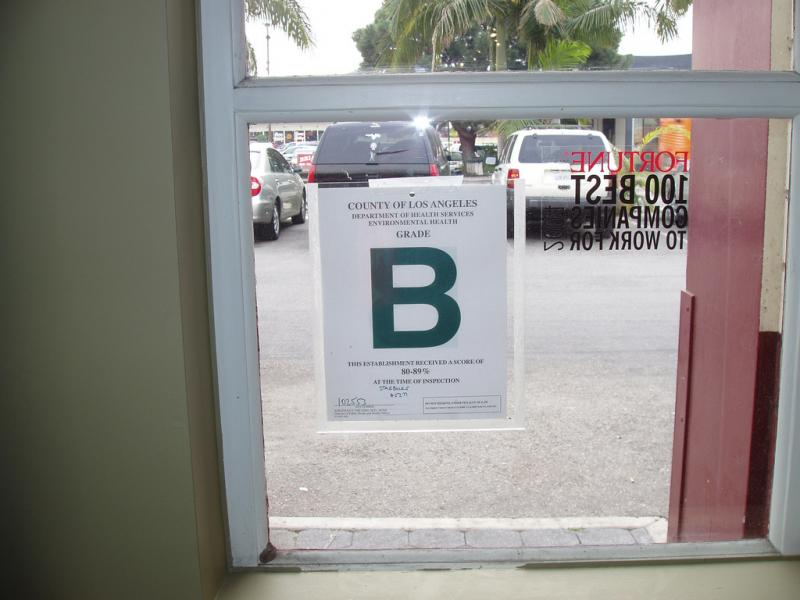 Los Angeles has provided some inspiration in public postings of health inspection grades for restaurants.
