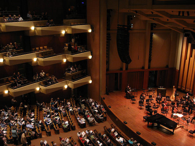 Benaroya Hall, home of the Seattle Symphony.