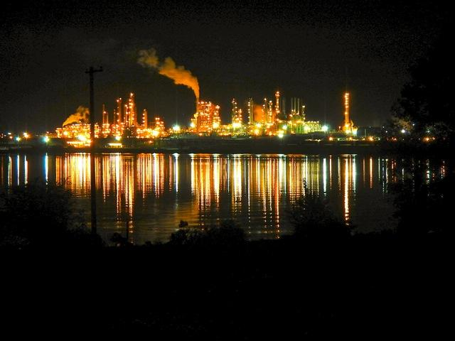 The Tesoro refinery on Fidalgo Bay in Anacortes.