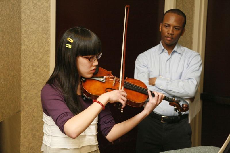 Quinton Morris, violin professor.