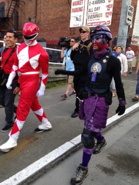 El Caballero, a Seattle-styled superhero.
