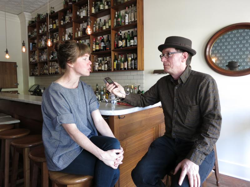Molly Wizenberg talks with KUOW's Ross Reynolds at her restaurant Delancey.