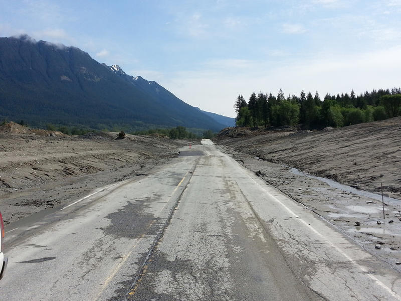 SR 530 is reopening to alternating single-lane traffic May 31. Sections of the roadway was discovered missing during clearing work, so portions of the highway will be unpaved.