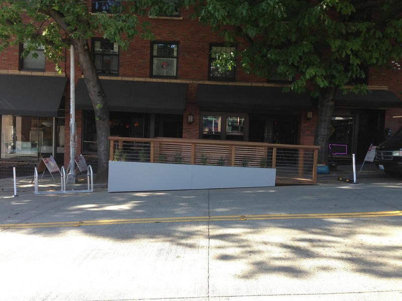 The finished parklet on Capitol Hill.