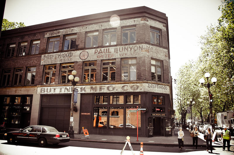 The Buttnick Manufacturing building in Pioneer Square, Seattle.