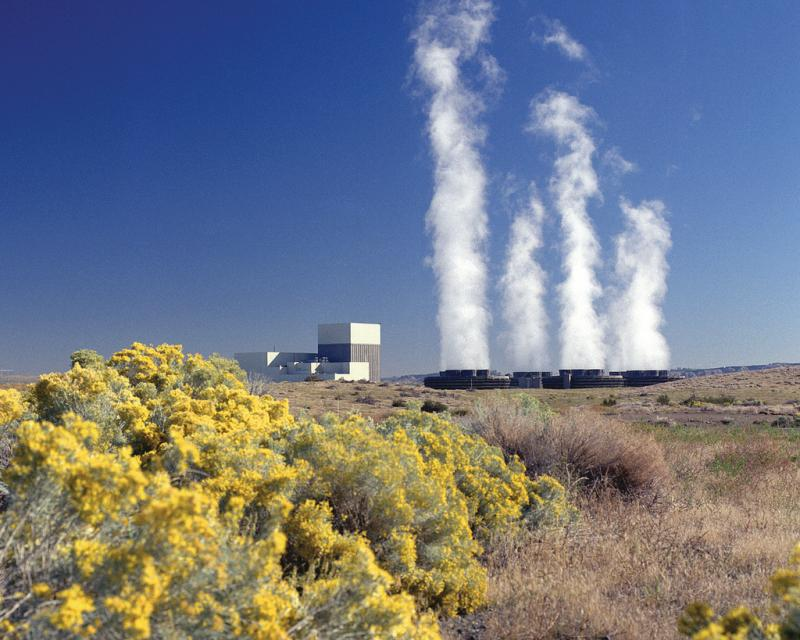 The Columbia Generating Station in Richland, Wash., produces nuclear energy.