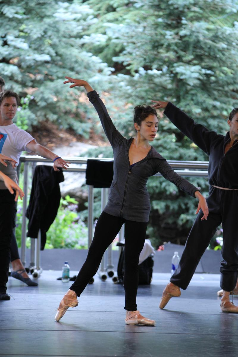 PNB dancer Leta Biasucci rehearses in Vail, Colorado.