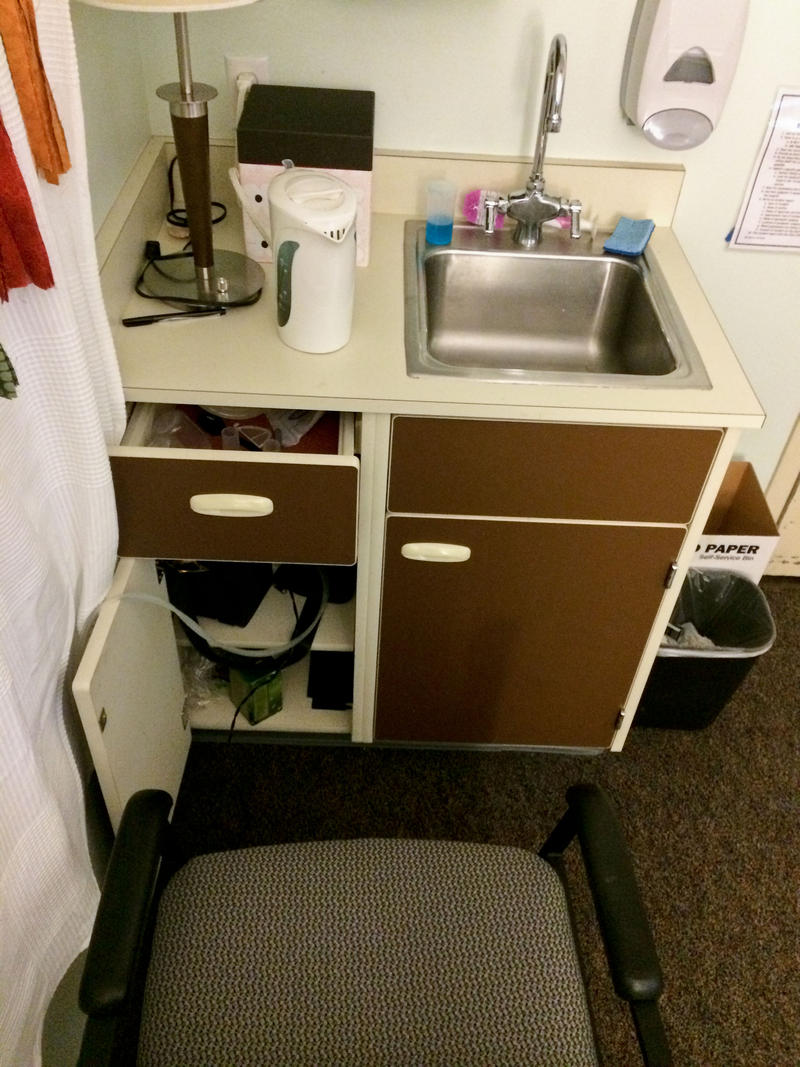 Dana Robinson submitted this photo of her pumping space, which doubles as her office. Robinson, a clinical instructor in the graduate program for speech language pathology at the University of Washington, said her work is very accommodating.