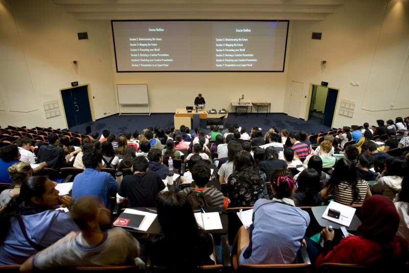 A lecture hall at Trinity College.