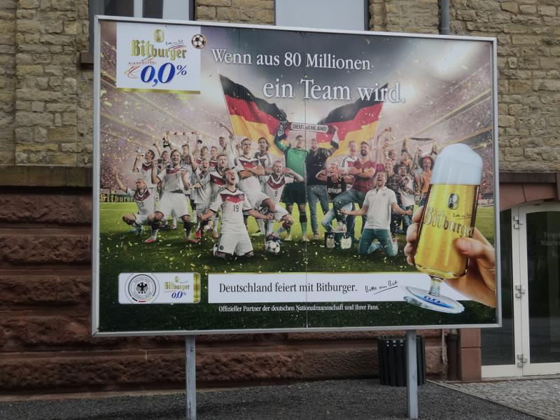 According to Ross Reynolds, currently on a fellowship in Germany, the whole country seems to be in love right now with the World Cup and beer.