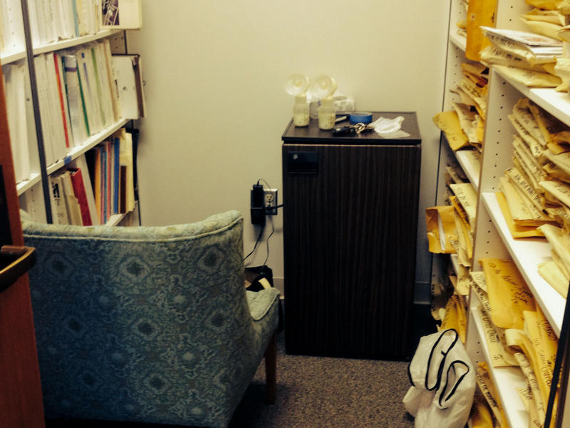 A prep school teacher in Seattle found this cozy spot, which includes a fridge.