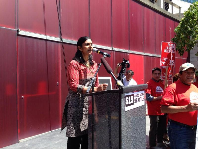 Socialist City Councilmember Kshama Sawant said she will continue to fight efforts to water down the minimum wage increase before the City Council vote.