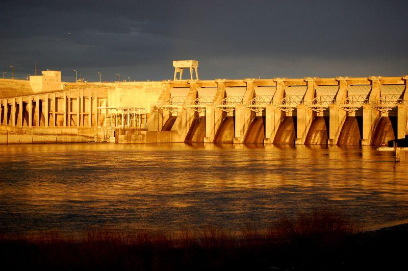 The Ice Harbor Dam on the Snake River in Washington.