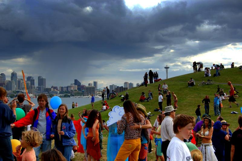Seattleites find a number of ways to celebrate the summer solstice, including dancing at Gas Works Park. One church used to stage sword fights, but has since changed traditions.