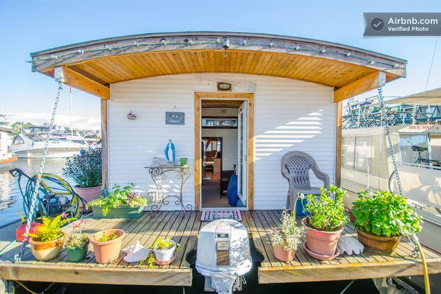 Houseboat on Lake Union; $150/night.