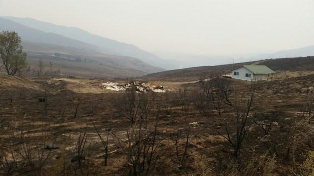 According to one resident, the Pateros fire burned up everything that could be burned in the Eastern Washington town.