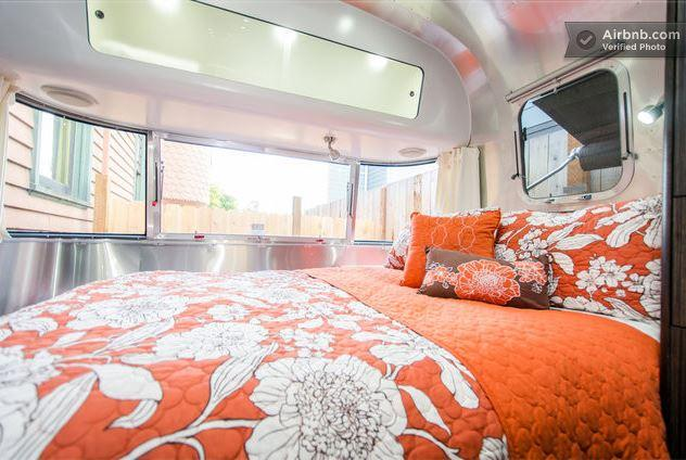Airstream trailer on lower Queen Anne; $105/night. Click on the photo to see the slideshow.