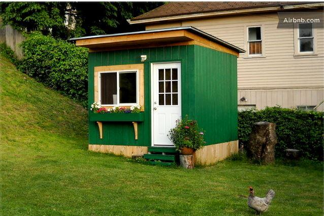 Tiny cabin on Queen Anne; $65. On same property as several other quirky dwellings..