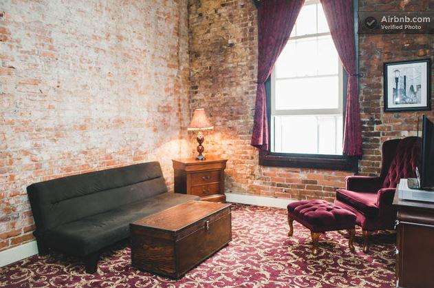 Pioneer Square apartment listed at $130/night on Airbnb.