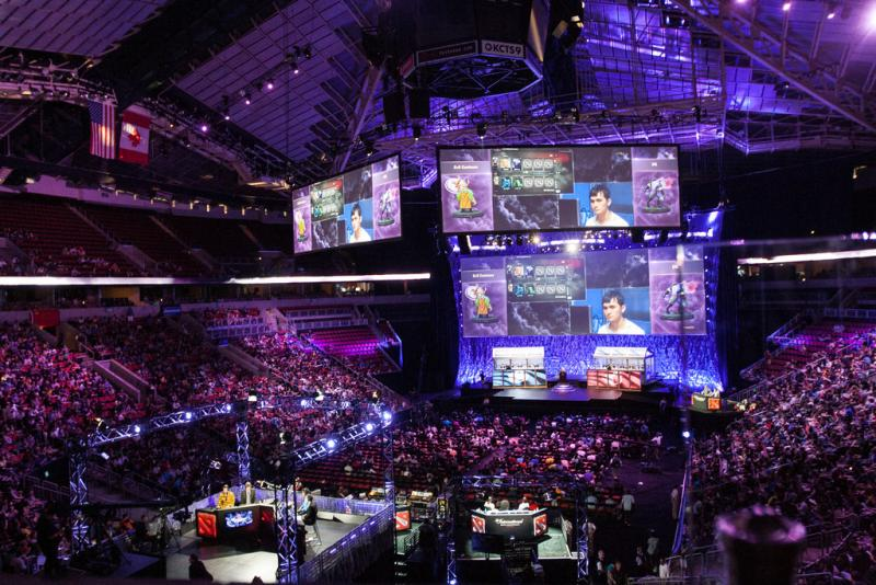 The hub of the action for The International - a DOTA2 competition held last weekend at Key Arena.