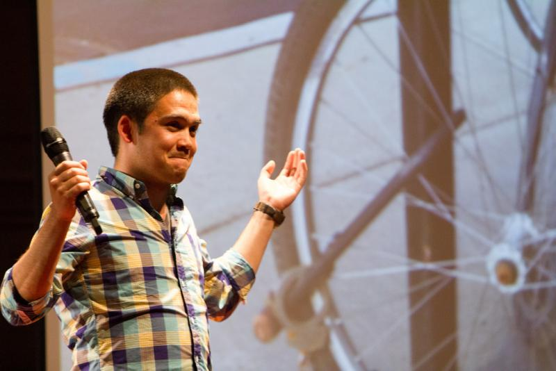 "At Ignite Seattle 24 Seijen Takamura asks, ""Can bicycles be lonely?"""