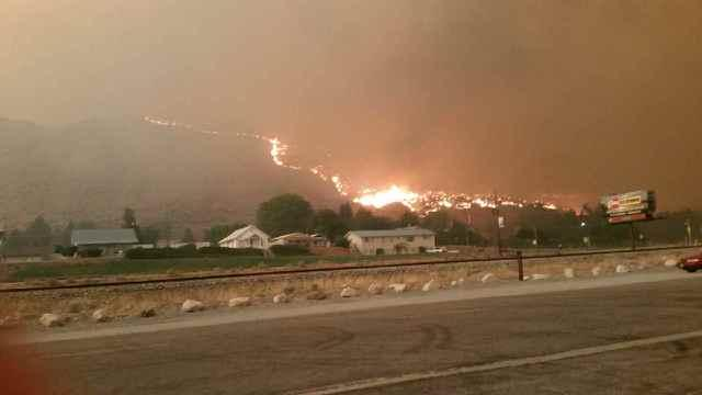 The Pateros fire that devastated part of the small town near Lake Chelan Thursday night.