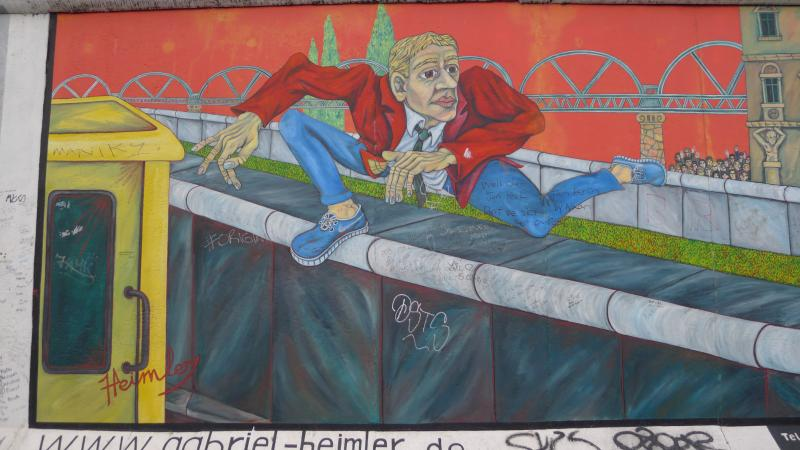 One section of the Berlin Wall has been transformed into the East Side Gallery, with artworks by a variety of artists from around the world.