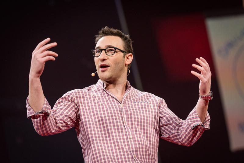 Simon Sinek speaks at a TED Conference in Vancouver, Canada, last March.