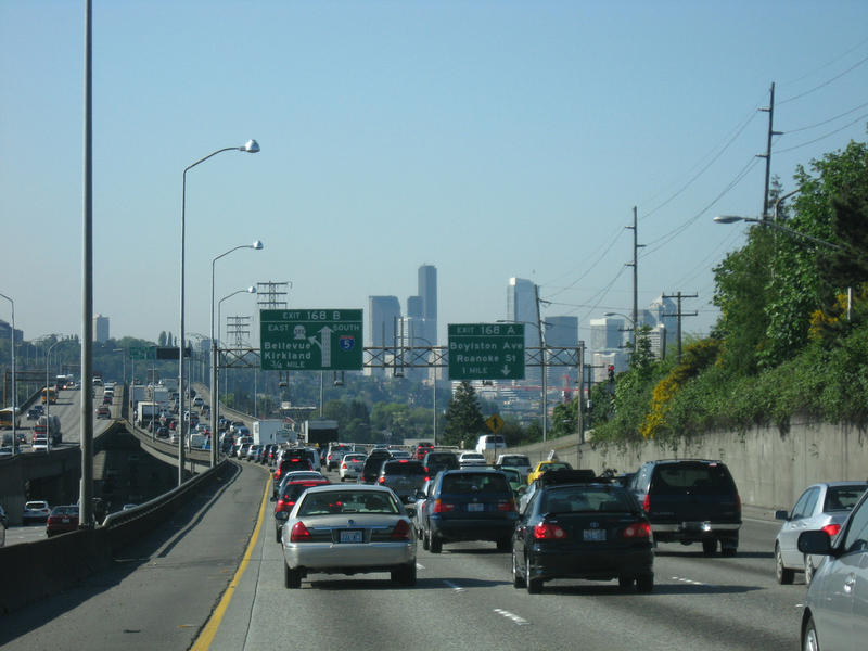 File photo of traffic on Seattle's Ship Canal Bridge.