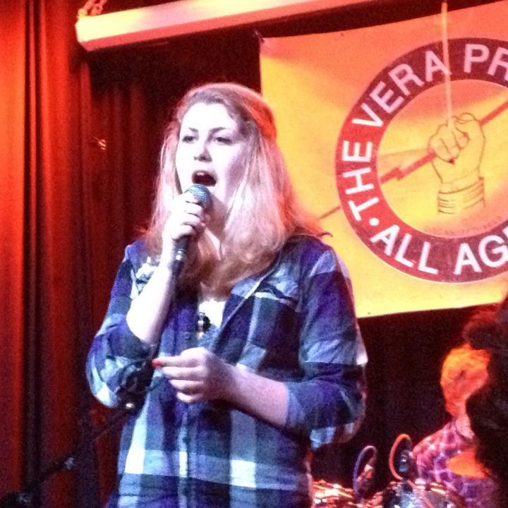 Mila Widmayer, 16, performing at the Vera Project, an all-ages concert venue.