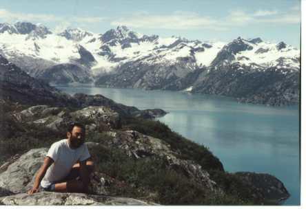 Leo Egashira in Glacier Bay, Alaska