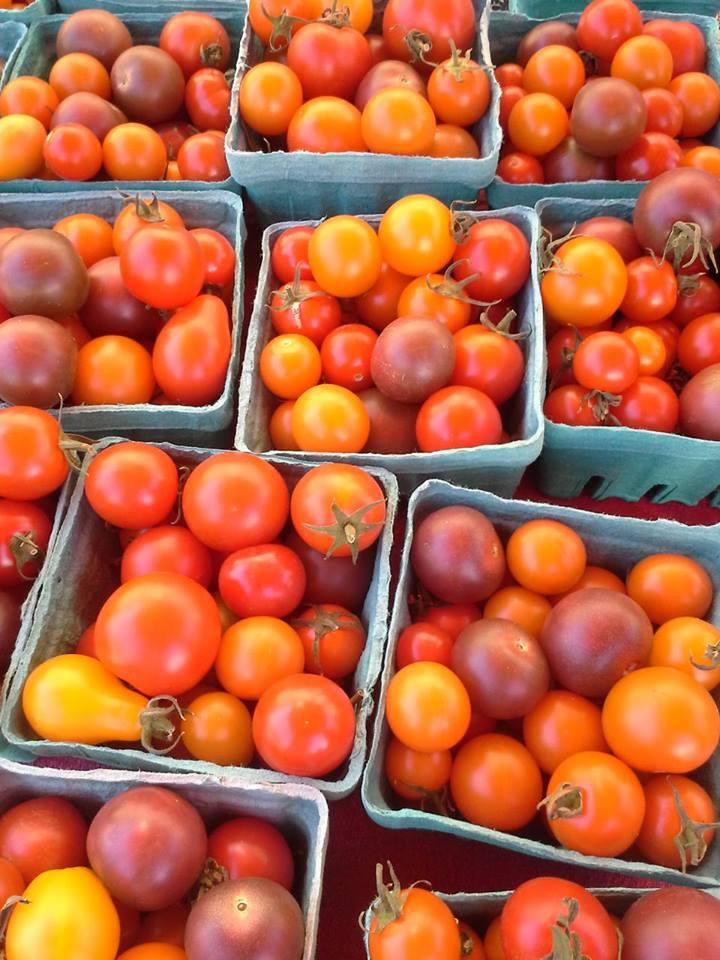 Cherry tomatoes at the Lake Forest Park farmers market.