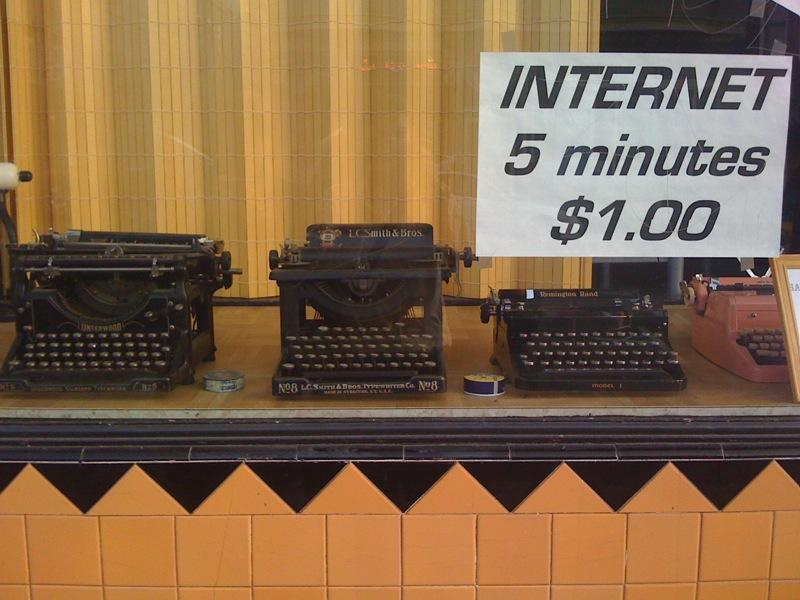 The catch is you have to get the typewriters to hook up to the ethernet.