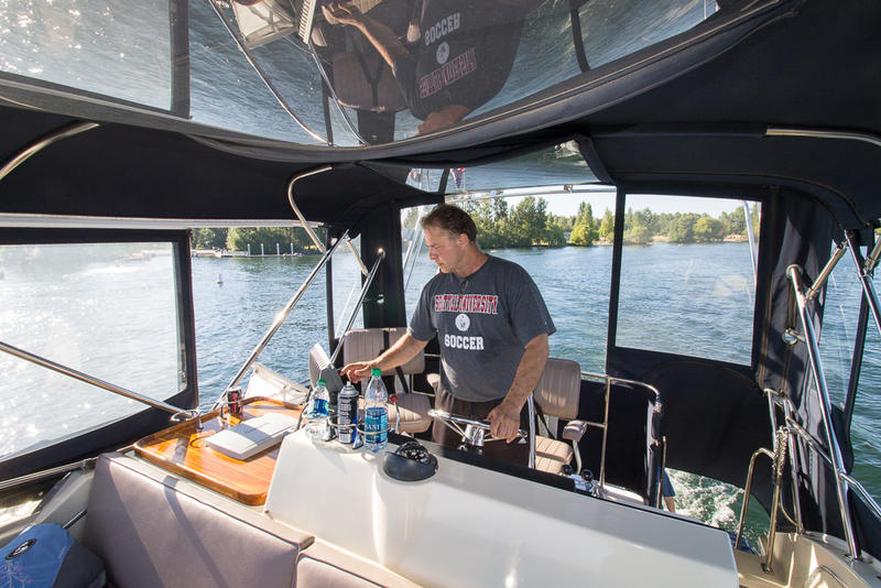 """Nobody takes out the trash on the bottom of Lake Washington,"" says Mike Racine, captain of ""Hat Trick."""