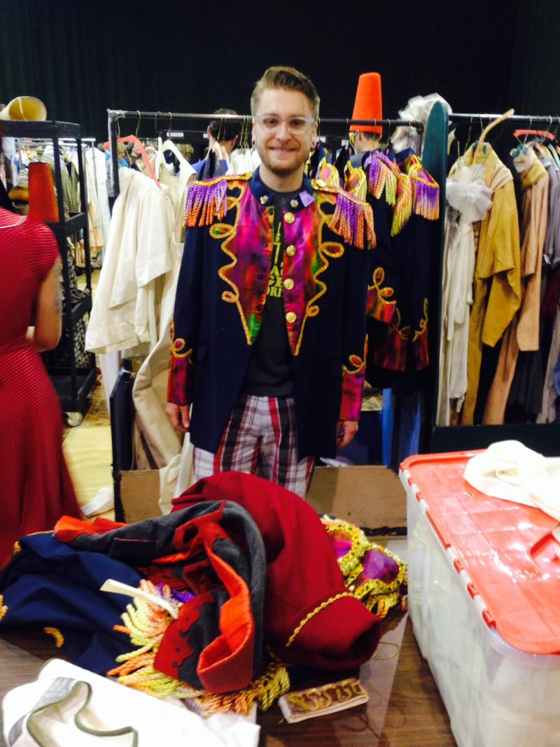Shawn Levin bought this jacket from the Pacific Northwest Ballet to wear for Burning Man.