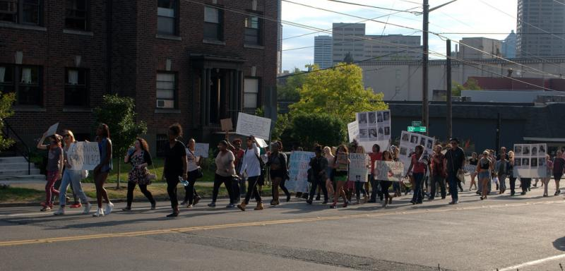 A Seattle march in support of Michael Brown and the protesters in Ferguson, MO.