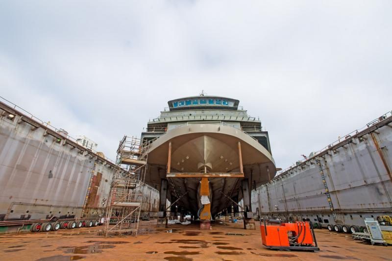 A new ferry under construction.