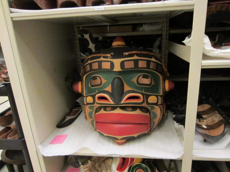 Contemporary Northwest Coast sea monster mask.