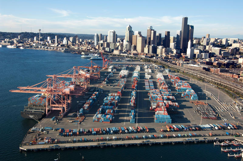 File photo of the Port of Seattle.