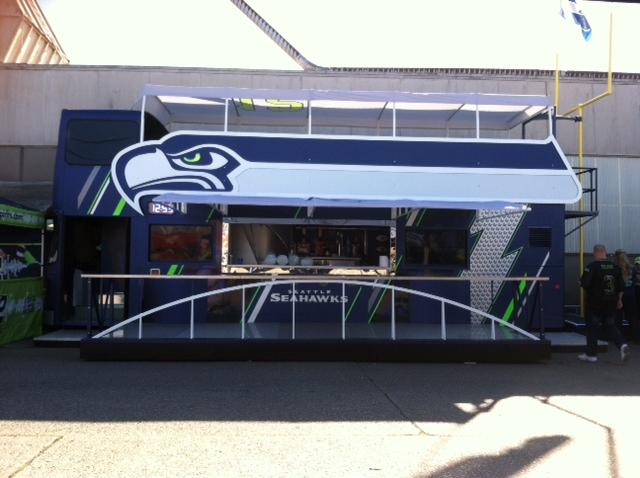 This double-decker bus was imported from London to be converted into every fan's dream tailgate machine.