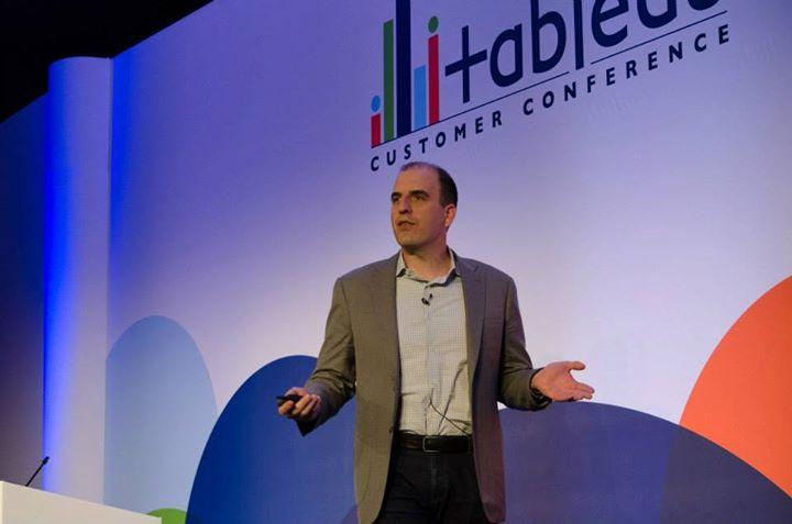 Chris Stolte at a Tableau Customer Conference in 2013.