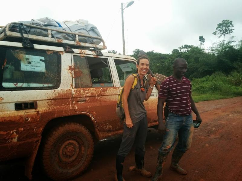 Karin Huster traveled to Liberia earlier this year to help combat Ebola.