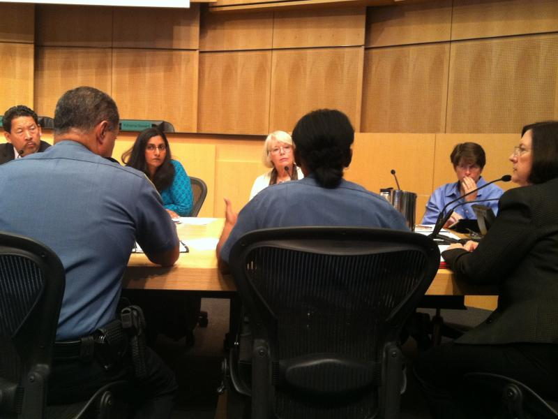 Seattle Police, including Chief Kathleen O'Toole, far right, appear before Seattle City Council Monday to discuss hate crimes. Police are focusing on Capitol Hill where attacks on gays has increased.