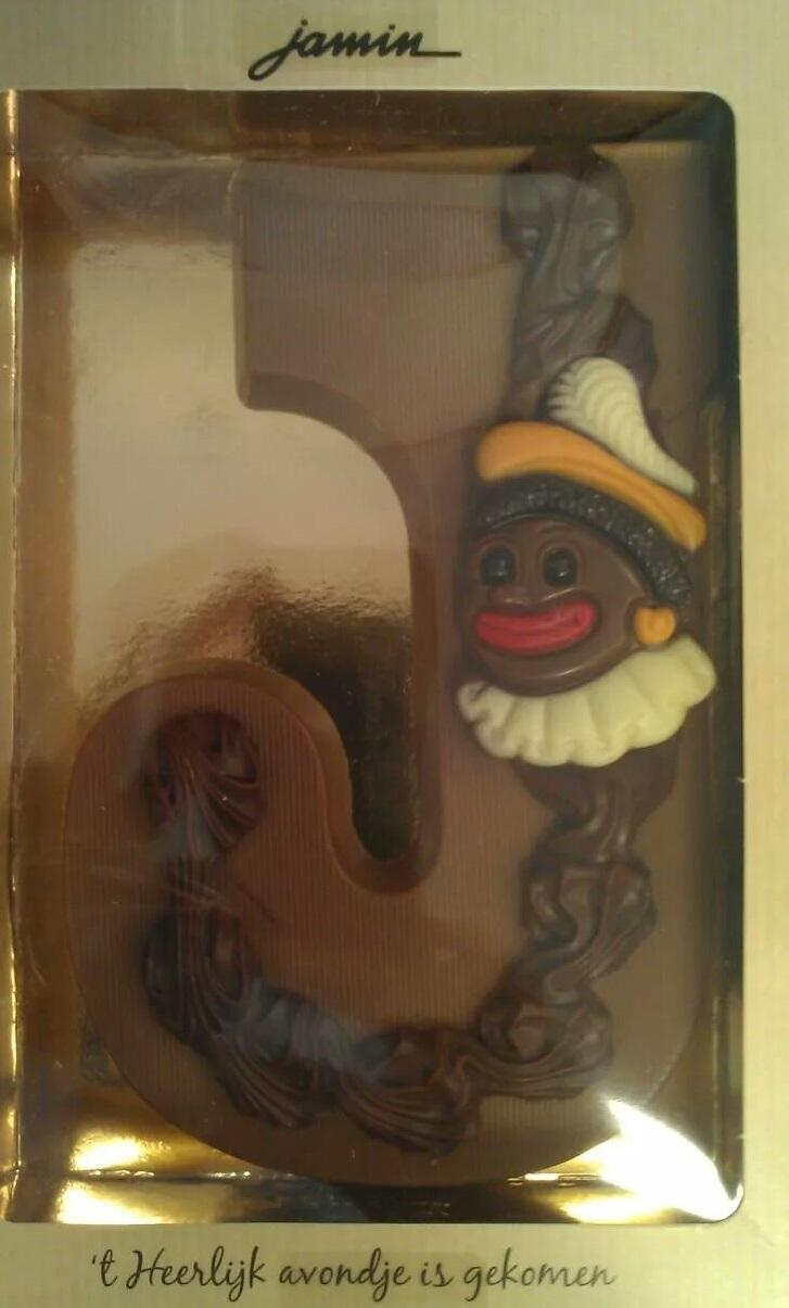 Seattle resident Jenna Franklin sent KUOW this picture of Black Pete on a chocolate letter.