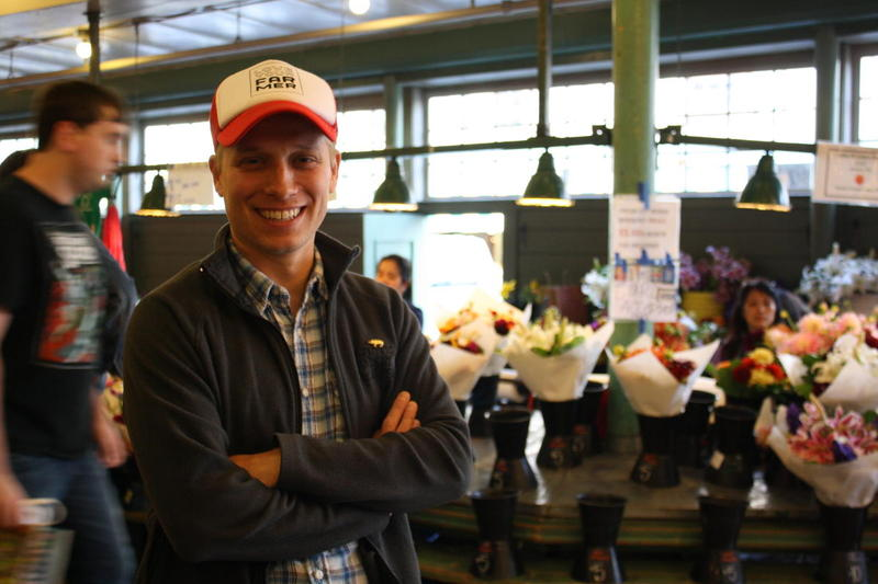 No, not the diner. Zack Cook, a market master at the Pike Place Market is a descendant of the Dennys, one of Seattle's first pioneering families.