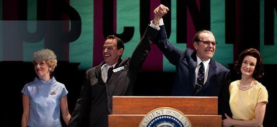 "A scene from ""All the Way,"" a play about President Lyndon B. Johnson by Seattle playwright Robert Schenkkan."