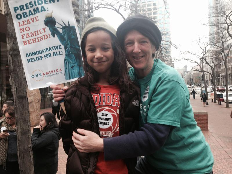 Mary September, a teacher in Edmonds, with her son Soloman, 8.