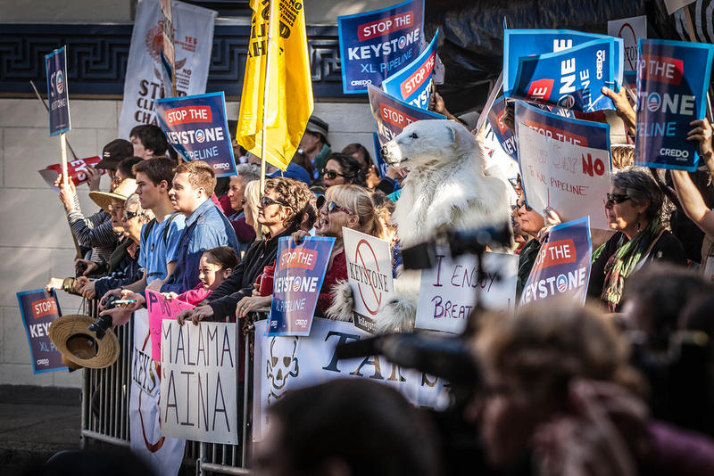 Protesters of the Keystone Pipeline in San Francisco, Calif., in November 2013.